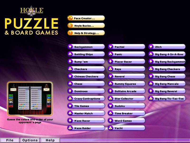 hoyle card game 2007 free