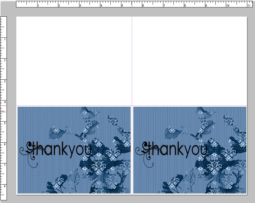 cannot create greeting card using avery 8315 note cards